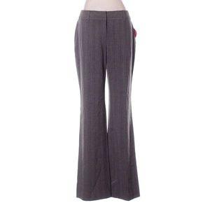 City Pants Olive Green Brown Pinstripe Wide Leg